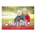 Holiday Blessings | Holiday Photo Card 13 Cm X 18 Cm Invitation Card