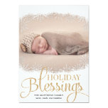 Holiday Blessings Holiday Photo Cards - White 13 Cm X 18 Cm Invitation Card