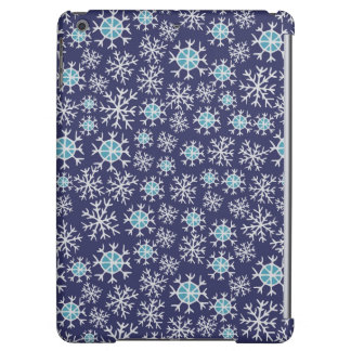 Holiday Blue Snowflakes Pattern