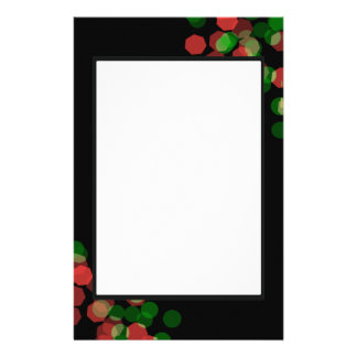 Holiday Bokeh Stationery Design