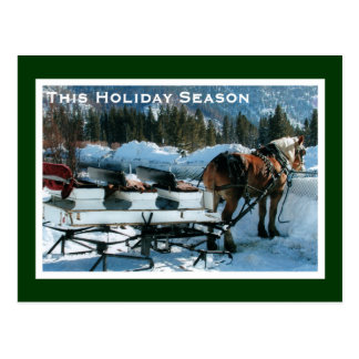 Holiday Break Business Postcard