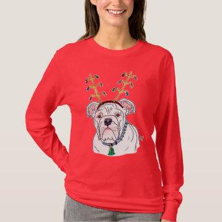 Holiday Bulldog T-shirt