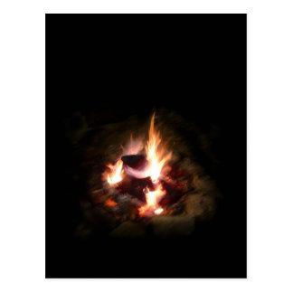 Holiday Campfire Photo Postcard