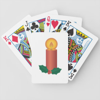 Holiday Candle Bicycle Playing Cards