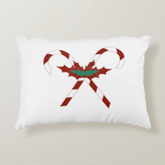Holiday Candy Cane Pillow Accent Cushion