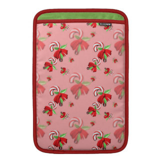 Holiday Candy Canes Sleeve For MacBook Air
