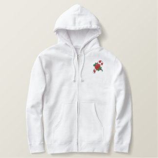 Holiday Candycane Embroidered Hoodie