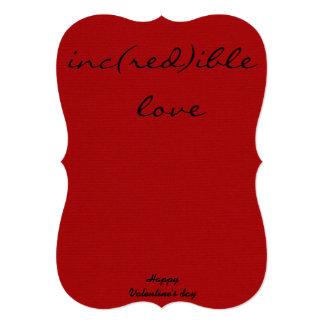 holiday card - RED LOVE 13 Cm X 18 Cm Invitation Card