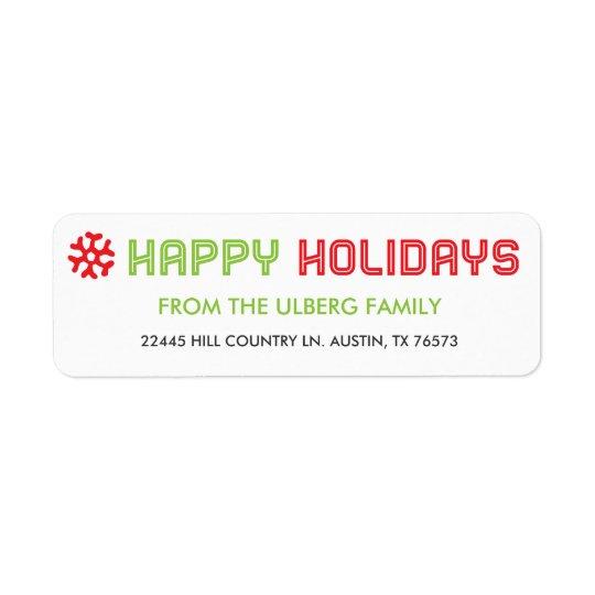 Holiday Card Return Address Labels