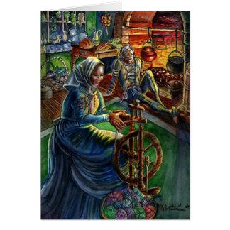 Holiday Card: Yule Log Card