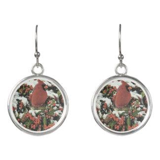 Holiday Cardinal Dangle Earrings