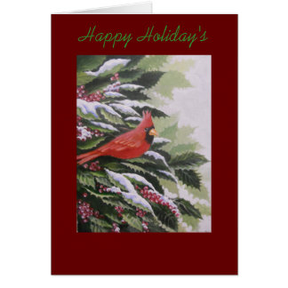 HOLIDAY CARDINAL, GREETING CARD