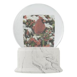 Holiday Cardinal Snow Globe