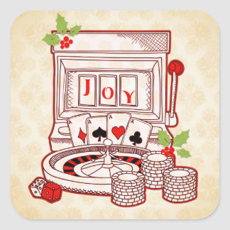 Holiday Casino Joy Square Sticker