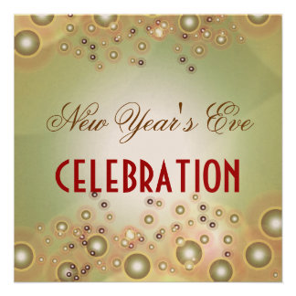 Holiday Celebration invitations champagne bubbles