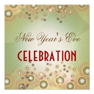 Holiday Celebration invitations, champagne bubbles 13 Cm X 13 Cm Square Invitation Card