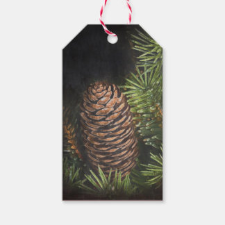 Holiday Chalk Drawn Pinecone and Pine Needles