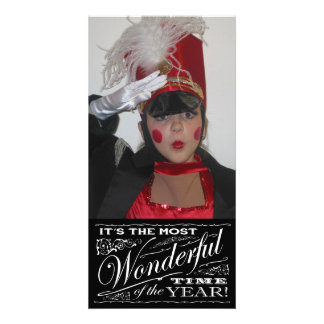 Holiday chalkboard art It's the Most Wonderful Personalised Photo Card