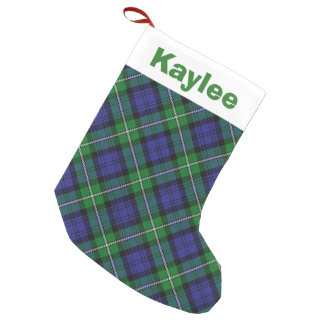 Holiday Charm Clan Forbes Tartan Small Christmas Stocking