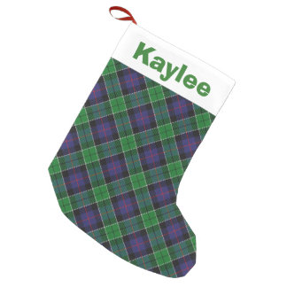 Holiday Charm Clan Leslie Hunting Tartan Small Christmas Stocking