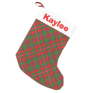 Holiday Charm Clan MacKinnon Tartan Small Christmas Stocking