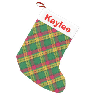 Holiday Charm Clan MacMillan Tartan Small Christmas Stocking