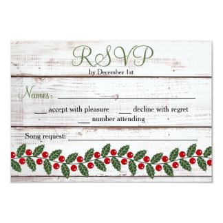 Holiday Charm Winter/Christmas Response Card