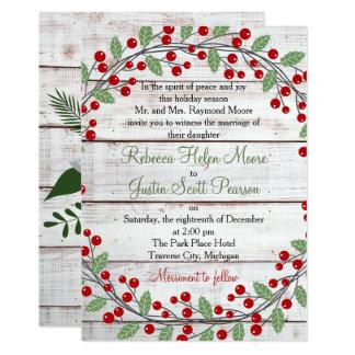 Holiday Charm Winter/Christmas Wedding Invitation