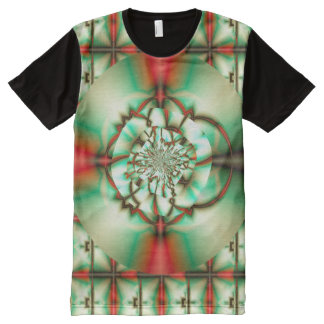 Holiday Cheer Abstract Fine Fractal Art All-Over Print T-Shirt