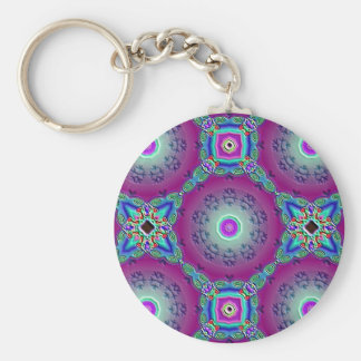 Holiday Cheer Basic Round Button Key Ring