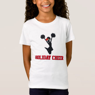 Holiday Cheer Cheerleading Christmas Design T-Shirt