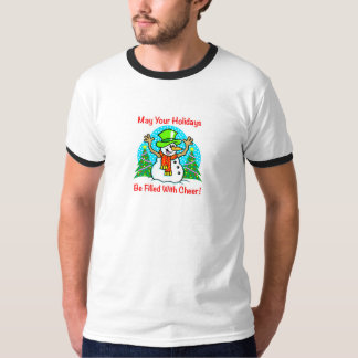 Holiday Cheer Christmas Snowman Men's Shirt