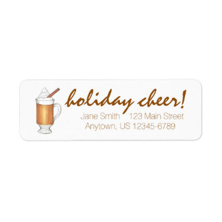 Holiday Cheer Hot Buttered Rum Xmas Address Labels