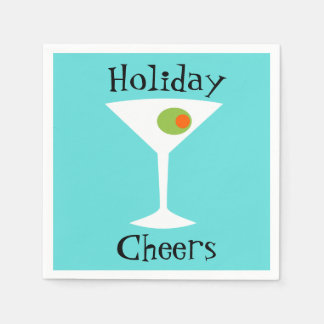 Holiday Cheers Martini Paper Napkins Paper Napkin