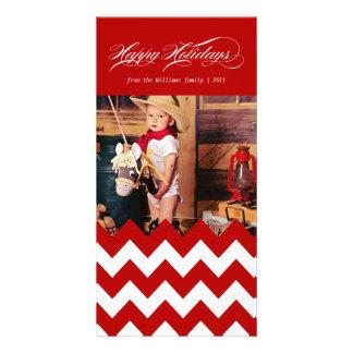 Holiday Chevron Customised Photo Card