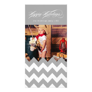 Holiday Chevron Picture Card