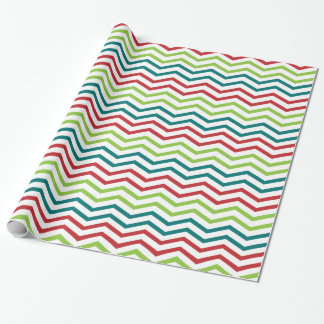 Holiday Chevron Wrapping paper