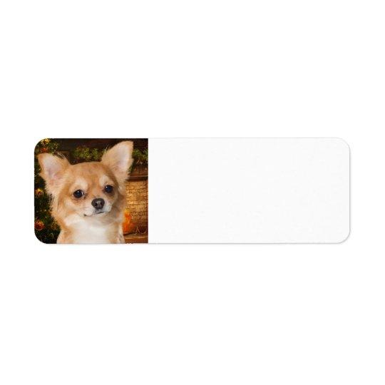 Holiday Chihuahua Return Address Label