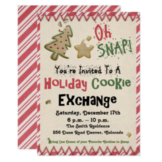 Holiday/Christmas Invitation Cookie Exchange Party