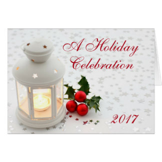Holiday Christmas Lantern Party Invitation Comapny