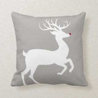 Holiday Christmas Pillow- Rudolph/Snowflake Cushion