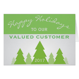 Holiday Christmas Pine Business Customer Greeting Card