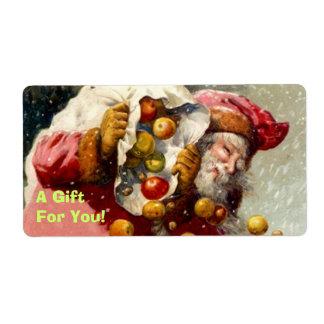 Holiday Christmas Santa Produce orchard Gift Label Shipping Label