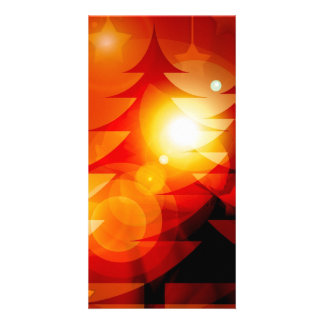 Holiday Christmas Tree Design Custom Photo Card
