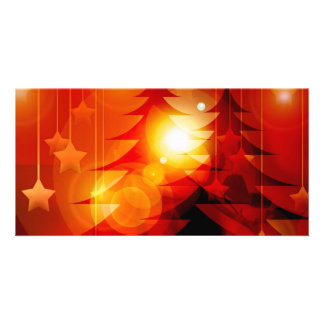 Holiday Christmas Tree Design Photo Greeting Card