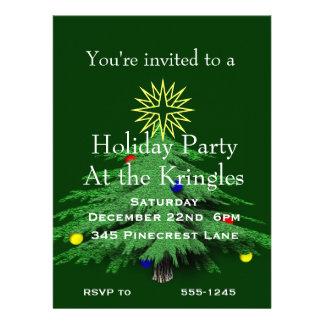 Holiday Christmas Tree Party Invitations