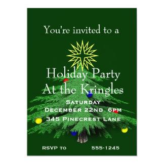 Holiday Christmas Tree Party 17 Cm X 22 Cm Invitation Card