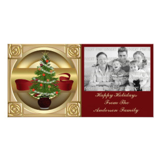 Holiday Christmas Tree Photo Card