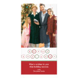 Holiday Circle Banner - Red & Green Custom Photo Card