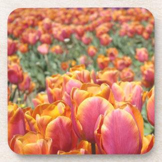 Holiday Coasters cork Tulip Flowers Table Settings